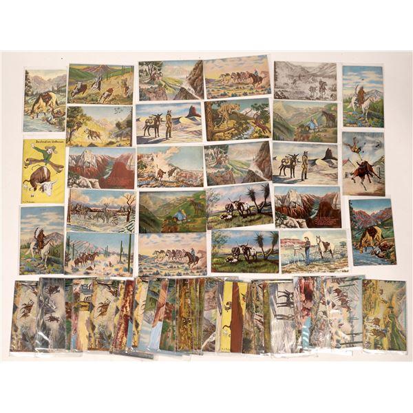 Dude Larson Western Theme Art Postcard Collection (60)  [136528]