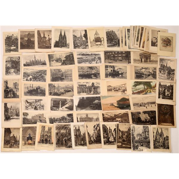 Etched Postcards Group from the Ken Prag Collection  [135214]