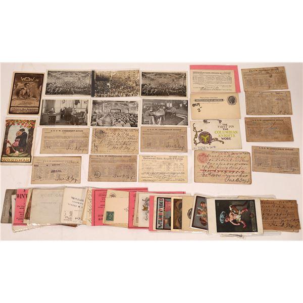 Fraternal Postcard Group (50)  [137913]