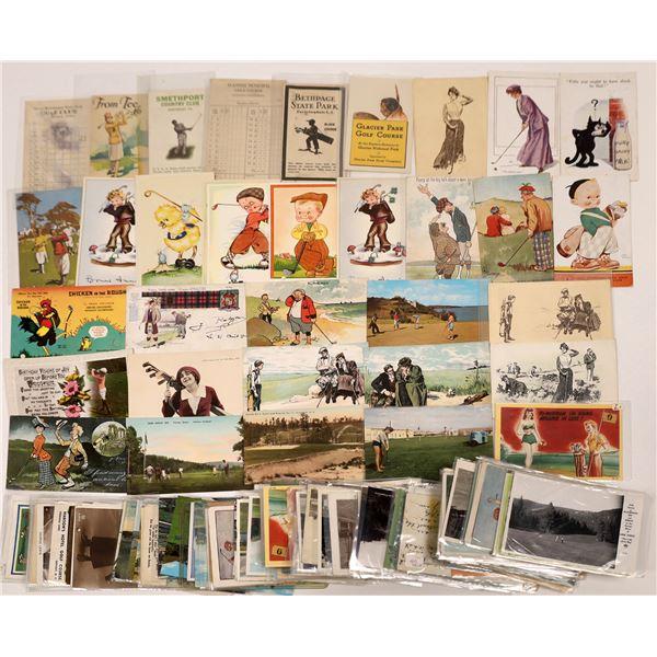 Golfing Postcard and Scorecard Collection  [138833]