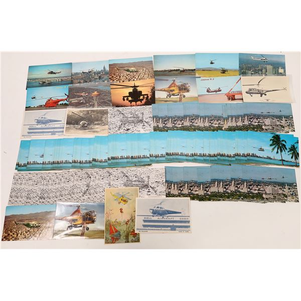Helicopter Postcards - about 200+  [137115]