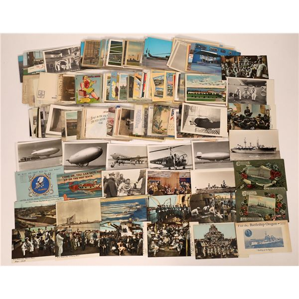 U. S. Military Postcard Group (Over 200 cards)  [138119]