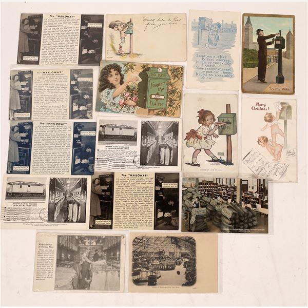 Postal History Postcards ~14 pcs  [137682]