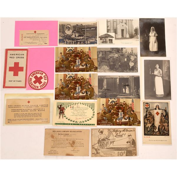 Red Cross & Salvation Army Postcards & Ephemera ~ 17 pcs  [137678]