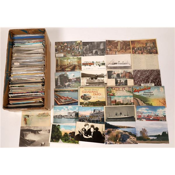 Unsorted Grab Bag #1 -- U.S. Postcards ~ 500  [138794]