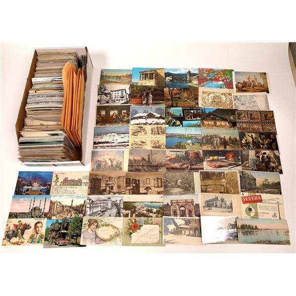 Unsorted Grab Bag #3 -- Foreign Postcards ~1,000  [138796]