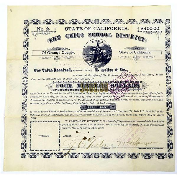 Chico School Bond Cert No.2  [135918]