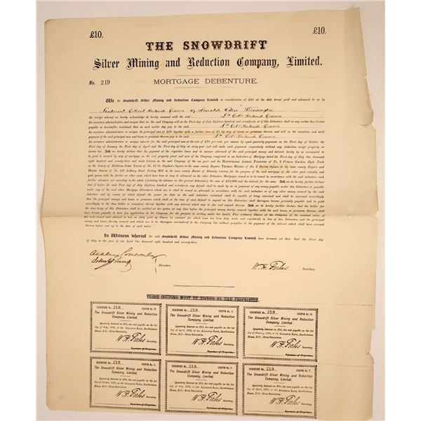 The Snowdrift Silver Mining and Reduction Co. Mortage Document  [135637]