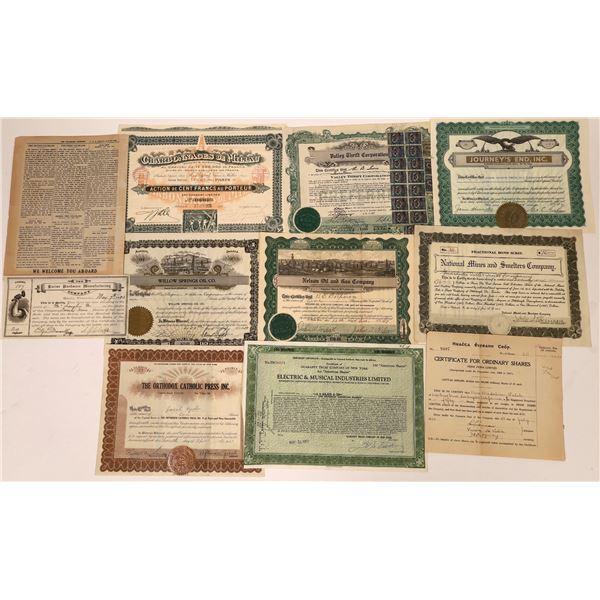Stock Certificate Grab Bag (10)  [135915]