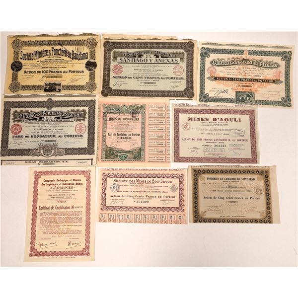 African Mining Stock Certificates Financed by the French  [132673]