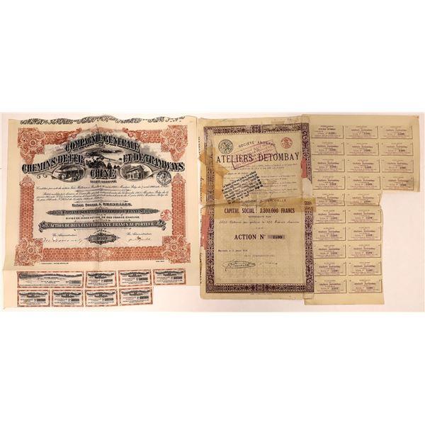 Stock Certificates from Belgium  [132671]