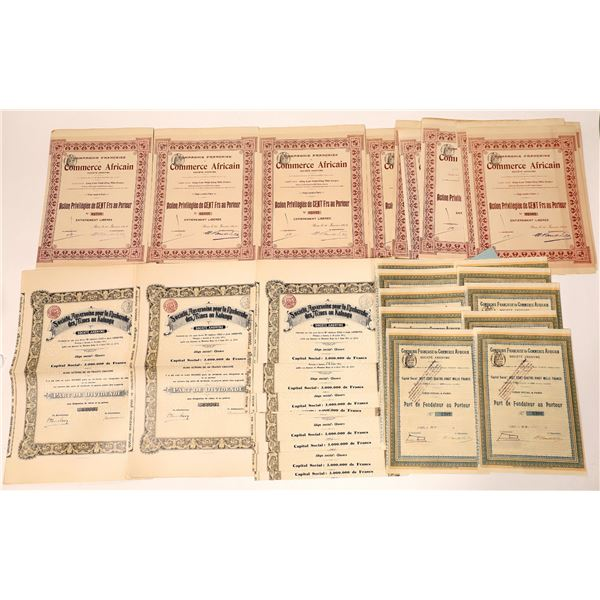 Compagnie Francaise de Commerce Africain Bond Certificates  [135944]