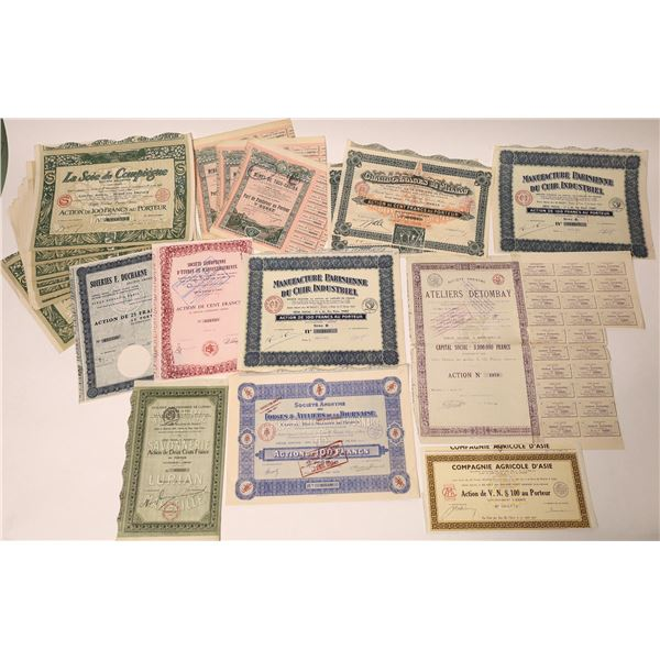Dealer Lot of French Stock and Bond Certificates  [132678]