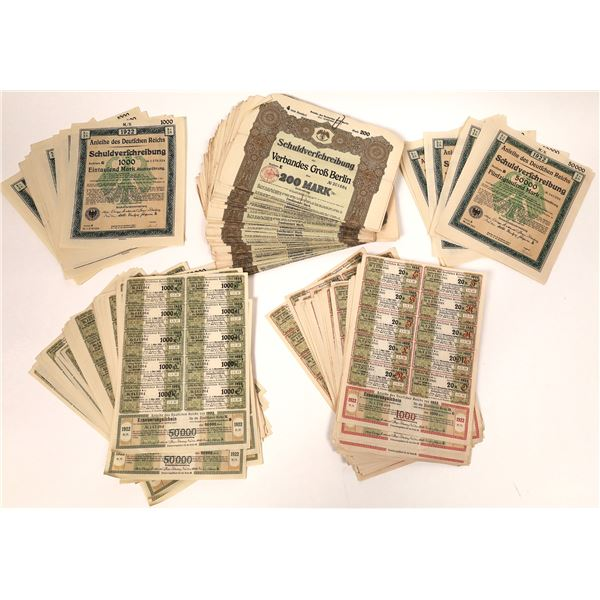 Dealer Lot of German Bond Certificates  [132663]