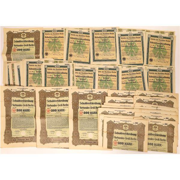 Schuldverfchreibung des Verbandes Grob Berlin Bond Certificates  [132643]