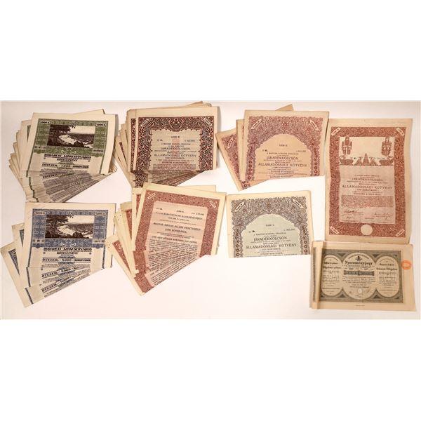 Dealer Lot of Hungarian Stock and Bond Certificates  [132677]