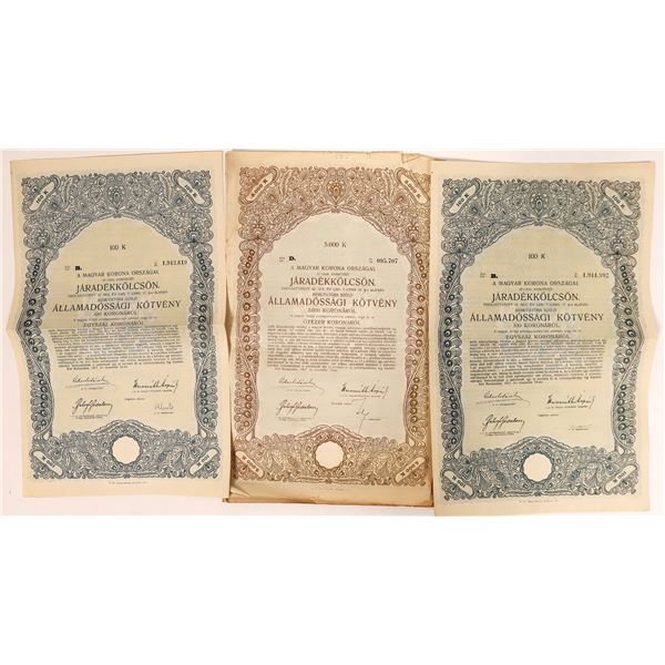 Hungarian Bond Certificates 1917  [135077]