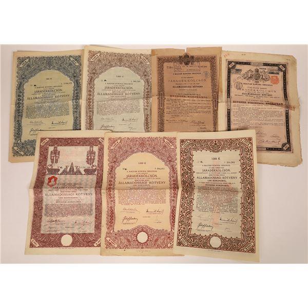 Jaradekkolcson Bond Certificates  [135106]