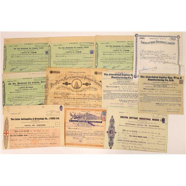 Indian Stock Certificates  [132649]