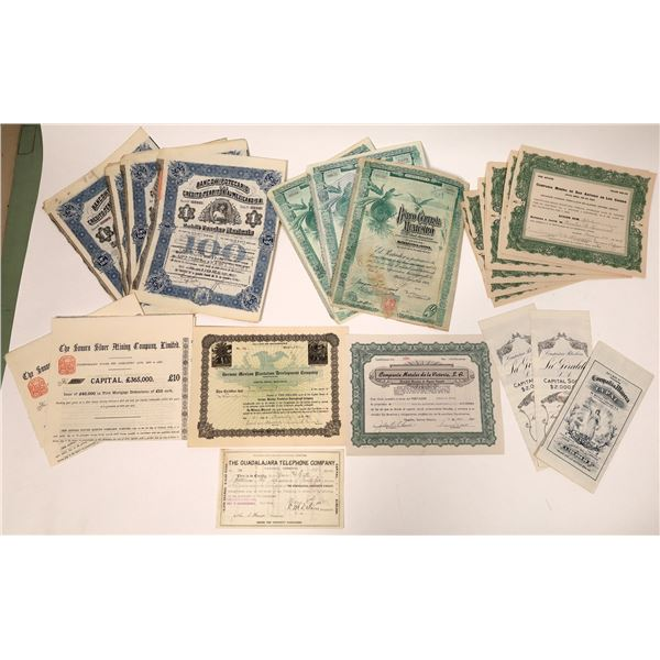 Dealer Lot of Mexican Stock Certificates  [132667]