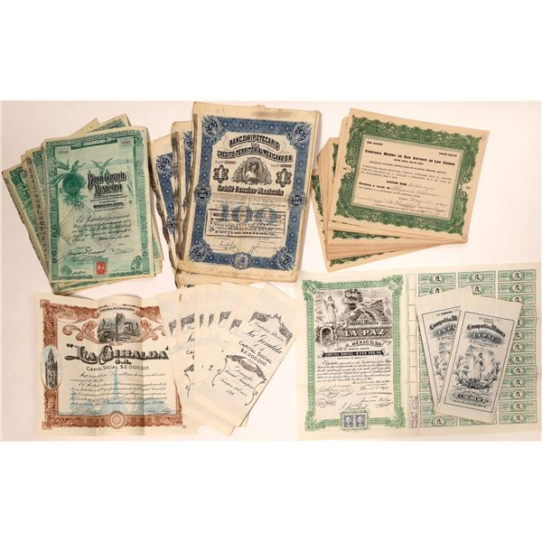 Mexican Company Stock Certificate Collection  [132656]