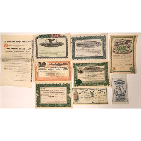 Mexican Mining Company Stock Certificates  [132669]