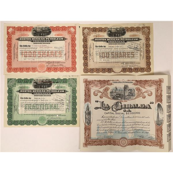 Mexican Oil Company Stock Certificates  [132668]