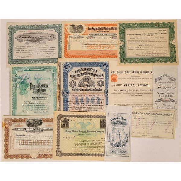Stocks and Bonds of Mexico  [132647]