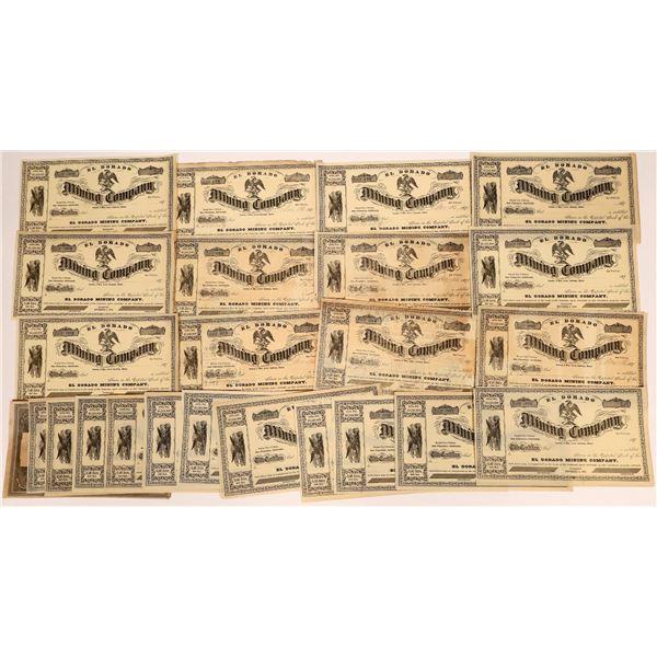 Stock Certificates for the El Dorado Mining Co. and the Columpio Mining Company  [131559]