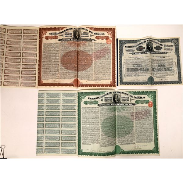 National Railways of Mexico Stock and Bond Certificates  [132657]