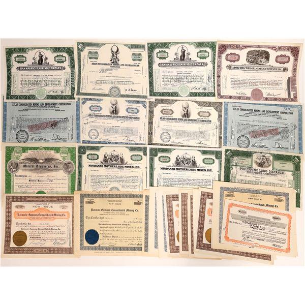 Philippine Mining Stock Certificates  [135066]