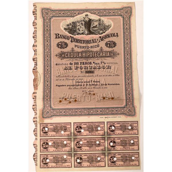 Banco Territorial & Agricola de Puerto Rico Bond Certificate  [132683]