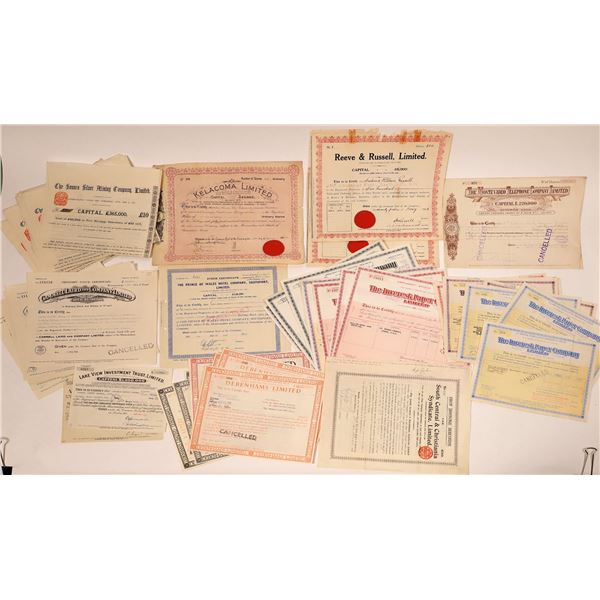 British Companies Stock Certificates  [132654]