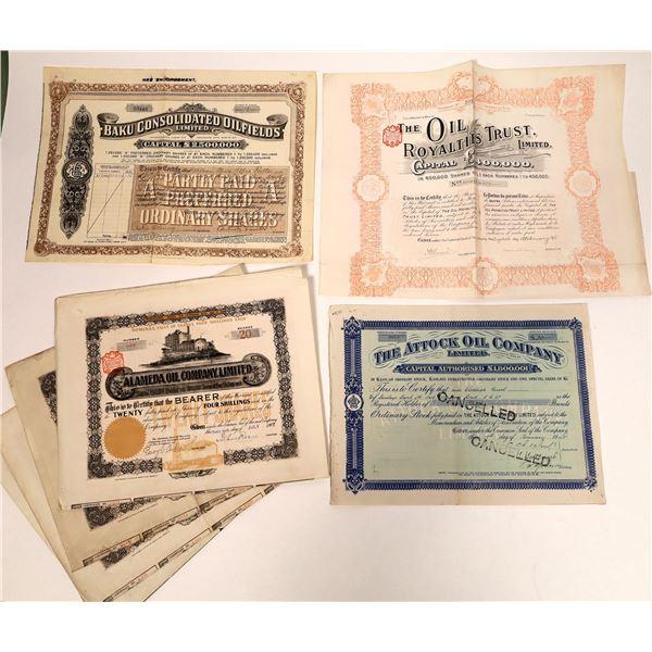 British Financed Oil Company Stock Certificates  [132659]