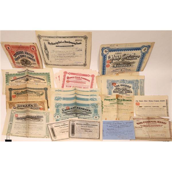 British Financed Worldwide Mining Stock Certificate Collection  [132658]