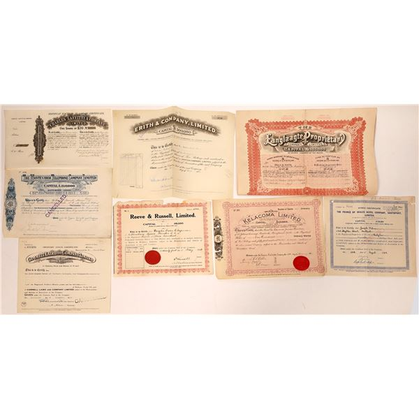 British Stock Certificate Collection  [132665]