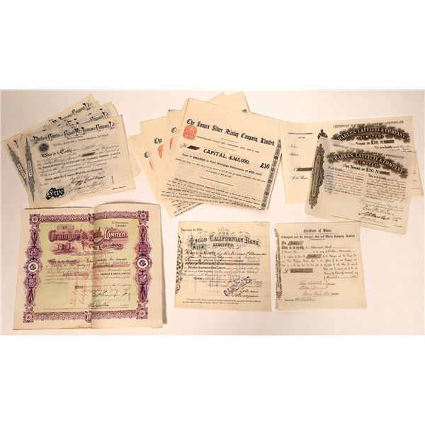 Pre 1900 British Stock Certificates  [132655]