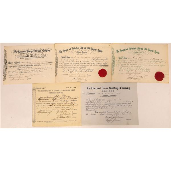 Liverpool & Manchester Stock Certificates  [132637]