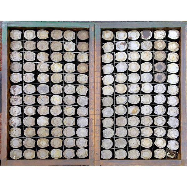 2 Trays of Encased Cent Dies  [137481]