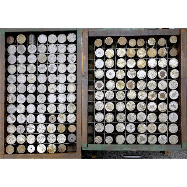 4 Trays of Dollar Sized Dies  [137480]