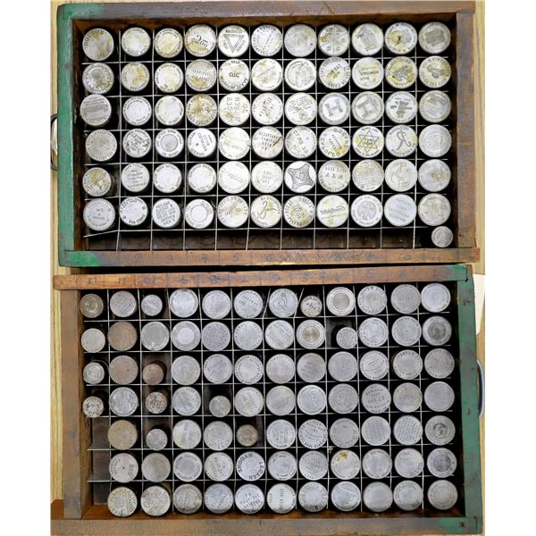 Two Boxes of Mostly 1 Dollar Sized Dies (147)  [136713]