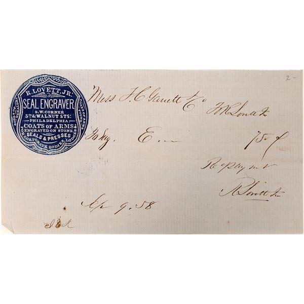Famous Early Die Sinker Billhead  [132590]