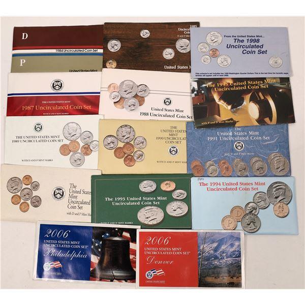 US Mint Set Group, D & P, 1984-85, 1987-95, 1998, 2006  [138911]