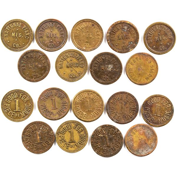 National Piano and Golden Gate Music Tokens  [136636]