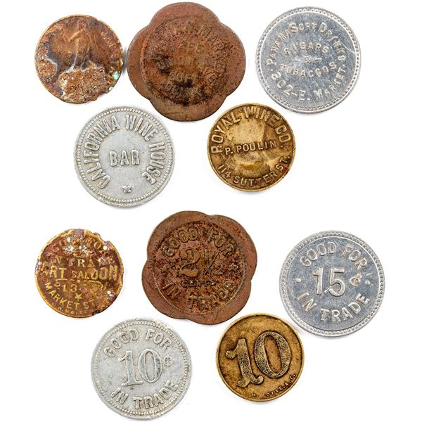 Wine and Soft Drink Tokens  [136507]