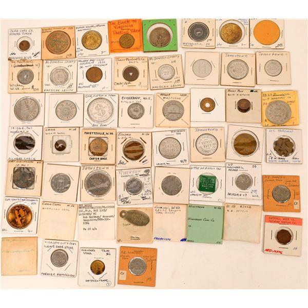 Town Token Collection: Tennessee, West Virginia & Virginia  [136441]