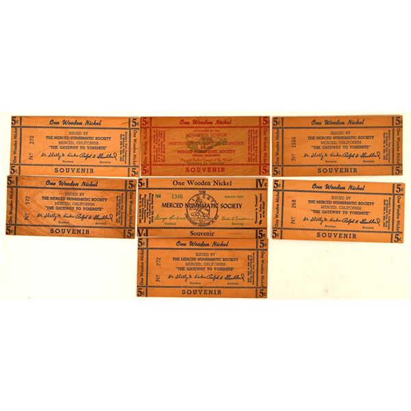Wooden Money Collection: Merced Numismatic Society  [136443]
