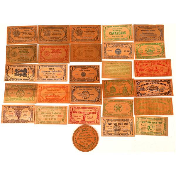 Wooden Money Collection: Northeastern States  [136446]