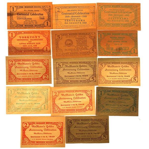 Wooden Money Collection: Texas & Oklahoma  [136448]