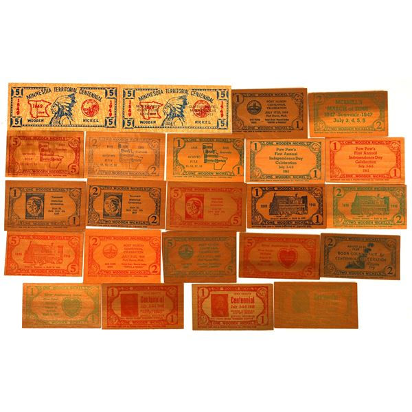 Wooden Money Collection: Upper Midwest  [136442]